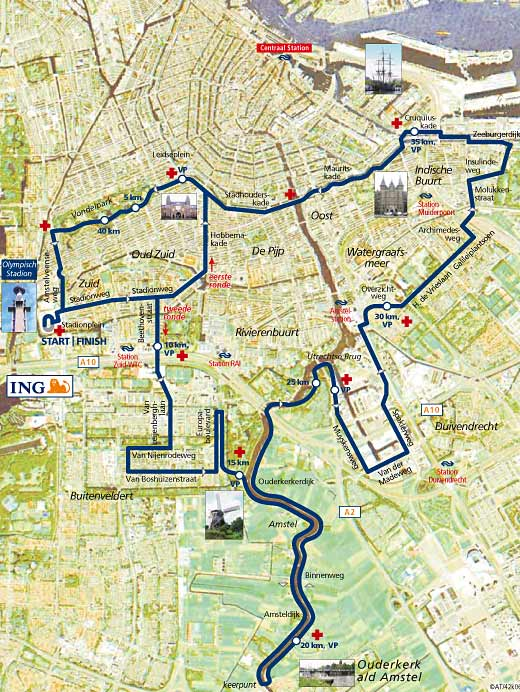 amsterdam marathon, half marathon and 5k from running crazy